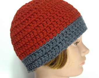 Handmade Hat, Beanie - Oxford Paprika
