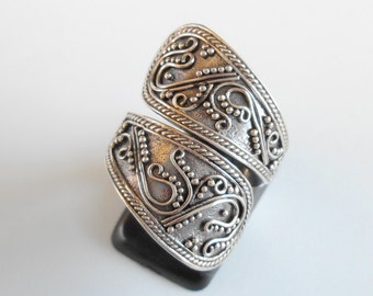 Balinese Sterling Silver granulation technique ring / silver 925 / Bali handmade jewelry / request your size / ( #94m)