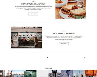 "NEW ""STEPHANIE"" Blogger Template - Premade Blogger Template - White Minimalist Blogspot Theme"