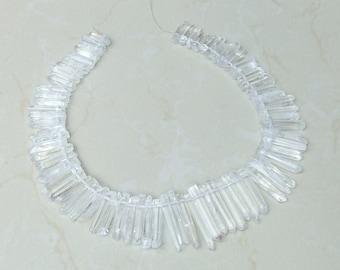 Polished Quartz. Full Quartz Strand - Polished Quartz Crystal Points - Natural Quartz Points - Graduated - 20mm - 40+mm