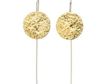 Moon - drop earrings