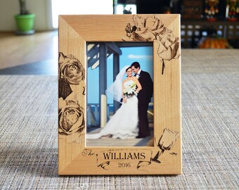 Personalized Picture Frame, wedding Photo Frame, Our wedding,  Custom Photo Frame, Wedding Gifts, Custom Frame , frame 108