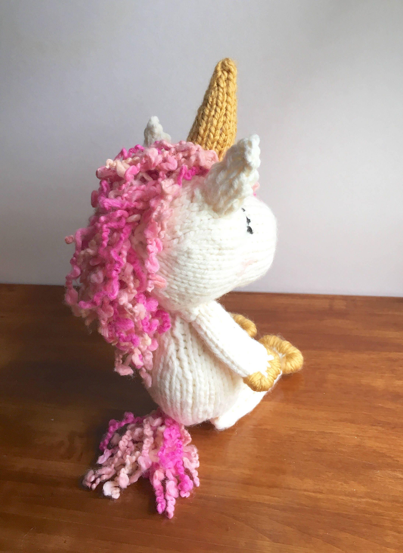 Unicorn PATTERN - knit unicorn pattern - unicorn doll tutorial ...