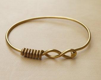 Gold Infinity Bicycle Spoke Bracelet