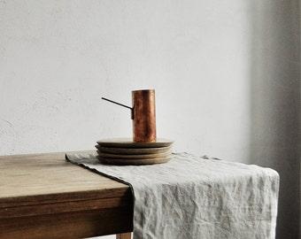 Linen Table Runner / Natural Flax Table Runner / Softened Linen Runner /  Easter Table / Table Decor / Table Top Linens / Weeding Decor.
