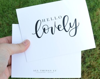 Set of 8 Notecards | Boxed Notecards | Hello Lovely Notecards | Thank You Notes | Hello Lovely Print