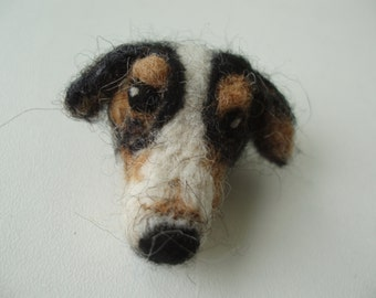 Needle felted Custom Pet Brooch,dog jewelry,dog brooch,gift for dog lover
