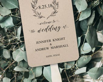 Wedding Fan Program, Wedding Fan Program Template, Printable Wedding Program, Editable Wedding Program, Wedding Fan Template, DIY, BD6057