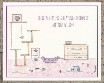 Cat Wall Art, Personalized 8x10 Print, Cat Lover Gifts, Cat Print Gifts, Custom Cat Art, Funny 8x10 Print, Personalized Cat Print