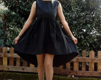 Taffeta ' pinstripe dress