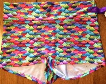 Rainbow Fish Roller Derby Shorts.