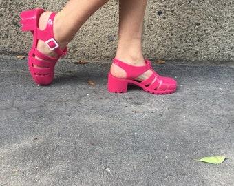 Jellyfish scarpe rosa, scarpe jellyfish rosa, scarpe estate plastica, scarpe plastica, scarpe rosa, jellyfish scarpe numero 40