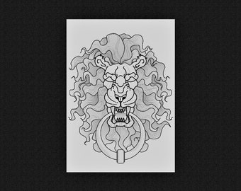 Lion Knocker (29.7 x 21 cm)