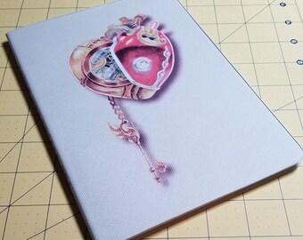 The Clockwork Heart Notebook, Journal, Sketchbook (blank interior)
