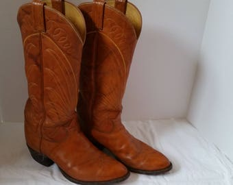 Vintage Tony Lama Western Cowboy Boots 1970s