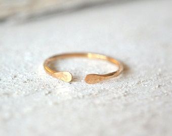 Cuff Ring- Gold Minimalist Ring, Silver Cuff Ring, Open Adjustable Ring, Rose Gold Cuff Ring, Stackable Ring