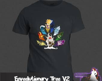 Pokemon - Eevelutionary Tree Version 2  (Unisex/Ringspun/Ladies) Tshirt