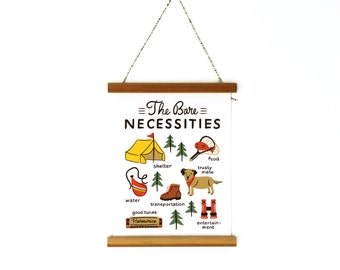 """The Bare Necessities Canvas Banner 6x8"""""""