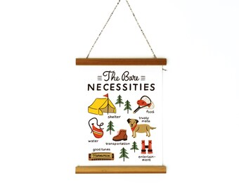 The Bare Necessities Canvas Banner 6x8""