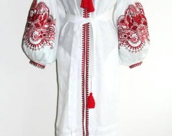 Embroidered dresses Kaftan Abaya Dress Bohemian Clothes Vyshyvanka Dress Ukrainian Embroidery Boho Clothes Vishivanka Ukraine Open in front