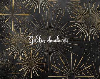 Sun Bursts Clipart, digital overlays, sunburst png, retro sunburst clip art, vintage graphics, fireworks, png retro label embellishments