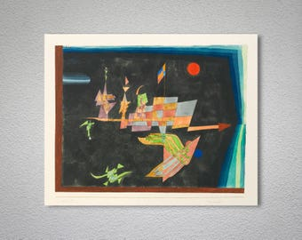 Journey in Space by Paul Klee - Poster Paper, Sticker or Canvas Print / Gift Idea