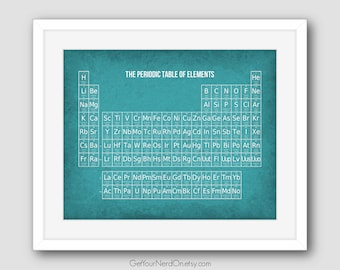 Periodic Table of Elements, Science Geek Gift, Chemistry Nerd Art, Science Classroom, Best Seller