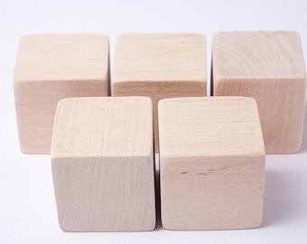 1 3/4 di pollice (4,5 cm) blocchi di legno non finito per artigianato del legno, cubi di legno, blocchi di legno, ottimo per docce bambino