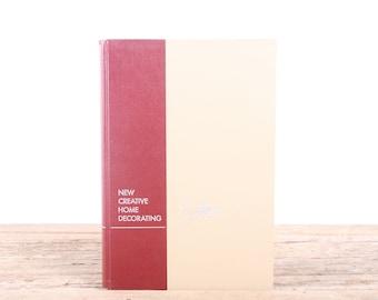 1954 New Creative Home Decorating Design Book / 1950s Mid Century Furniture Design / Antique Home Design Book / Americana Coffee Table Book