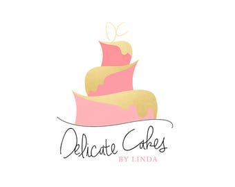 Chef business card etsy delicate cakes premade bakerpastry chefcake maker logo business card printing optional reheart Choice Image