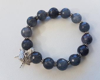Agate bracelet stretchy bracelet gemstone jewelry NZ00037