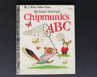 Richard Scarry's Chipmunk's ABC Vintage Little Golden Book