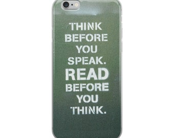 Think Read - iPhone Case