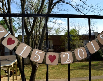 Wedding Banner  Save the Date Banner - Engagement Party Decoration - Photo Prop