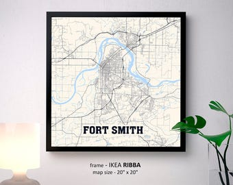 Fort smith city map Etsy