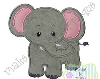 Applique Zoo Circus Elephant Machine Applique Design