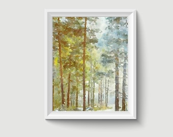 Forest Painting Postcard Poster Art Print Q221