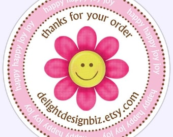 Custom Thank You Labels, Thank You for Your Order Stickers - 2 inch round OR 2.5 inch round - Personalized for YOU