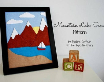 Mountain Lake Scene pattern