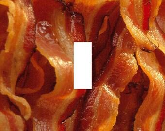 Bacon Single Light Switch Plate Cover (OM NOM NOM)