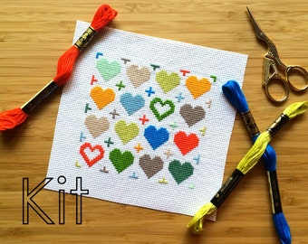 Kit de punto de Cruz, Cruz mi corazón, contó cruz puntada DIY kit
