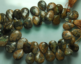 9'' Strand, Wholeale Price, Brown Opal Smooth Pear Briolettes, Size 18-16mm