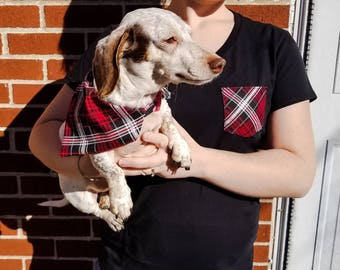 Red and Black Plaid Fido and Me Gift Pack Gifts for dogs and dog lovers Holiday Christmas Matching accessories