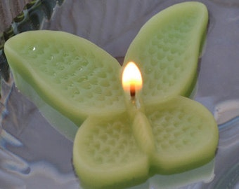 8 Lime Green Butterfly Floating Candles wedding receptions table centerpiece and decor