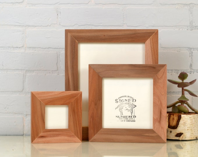 """Solid Natural WILLOW Wood Picture Frame 1.5"""" Wide Style Choose your frame size 2x6, 3x3 up to 11x14, 12.5x12.5 inches - FREE SHIPPING"""