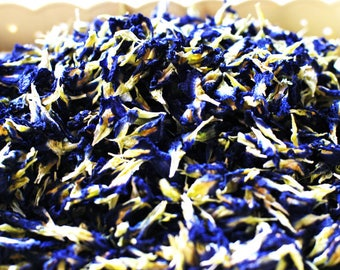 Organic Blue Butterfly Pea Flower, Natural Food Coloring for Fondant, Icing, Frosting, Cake, Food Colouring ; (1 Kg) - FREE SHIPPING !