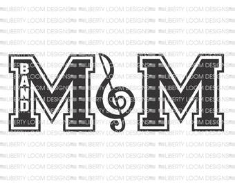 Band mom with treble clef