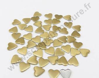 Fusible heart - gold matte - 6 mm - x 75pcs