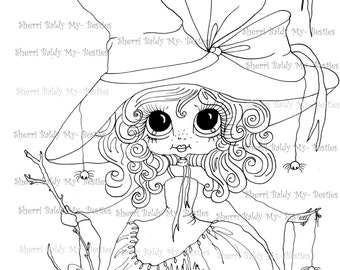 INSTANT DOWNLOAD Digital Digi Stamps Big Eye Big Head Dolls Digi  My - Besties Spider Ella  IMG046 By Sherri Baldy