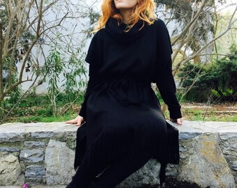 Black Poncho, Wool Cape, Vikings Clothing, Wool Knight Poncho, Game Of Thrones Pancho, Boho Poncho, Ethnic Style Poncho, Accessories